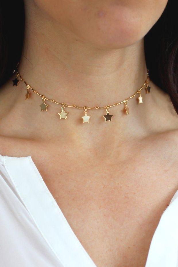 Star Dust Choker Halskette  Christine Elizabeth Jewelry