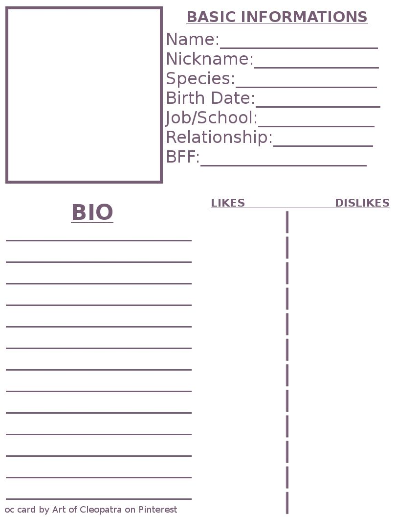Pinming On Art Work In 2019 Character Sheet Template Character