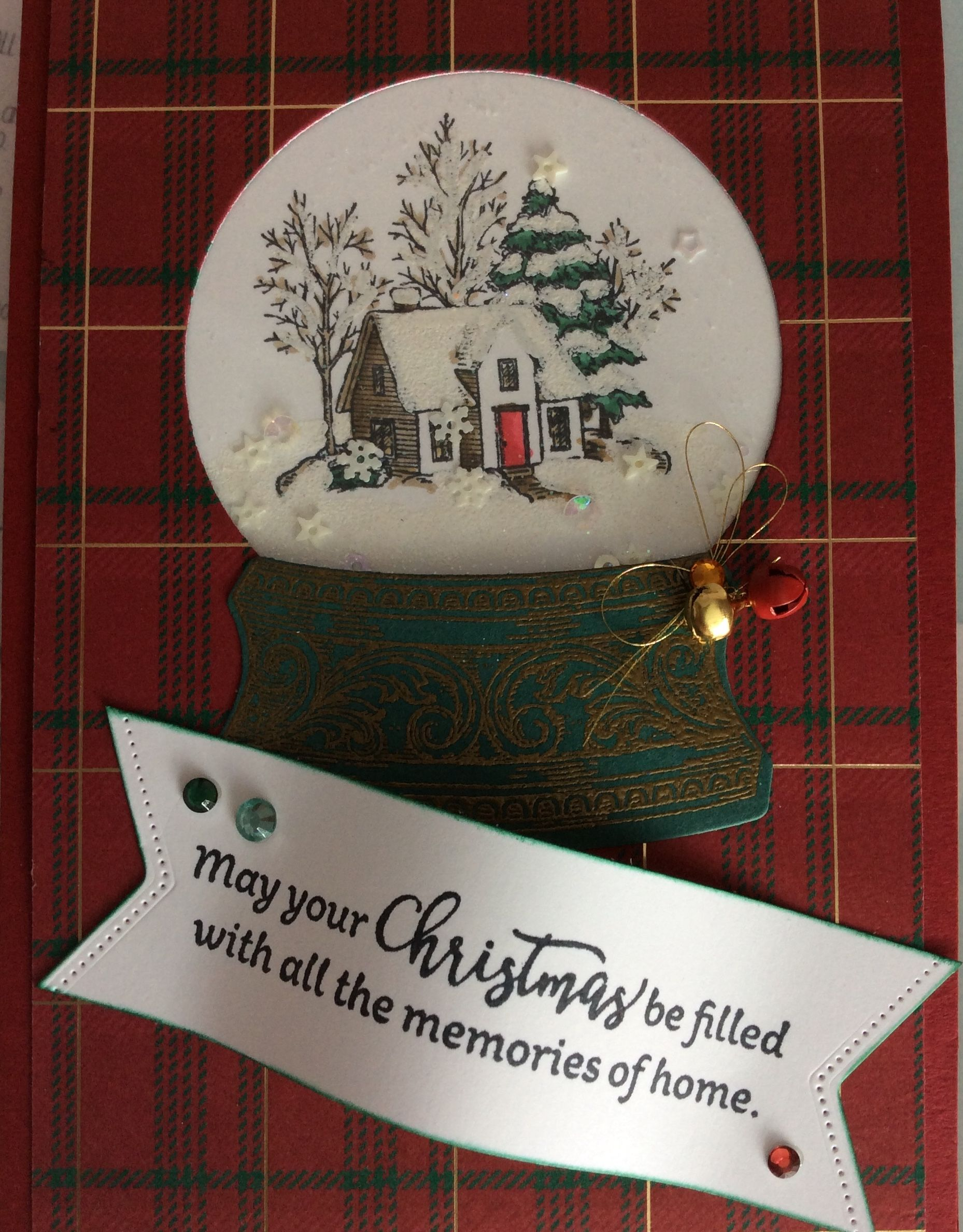 2019 White House Christmas Card.Used A Versa Mark Pen To Add White Heat Embossing Powder To
