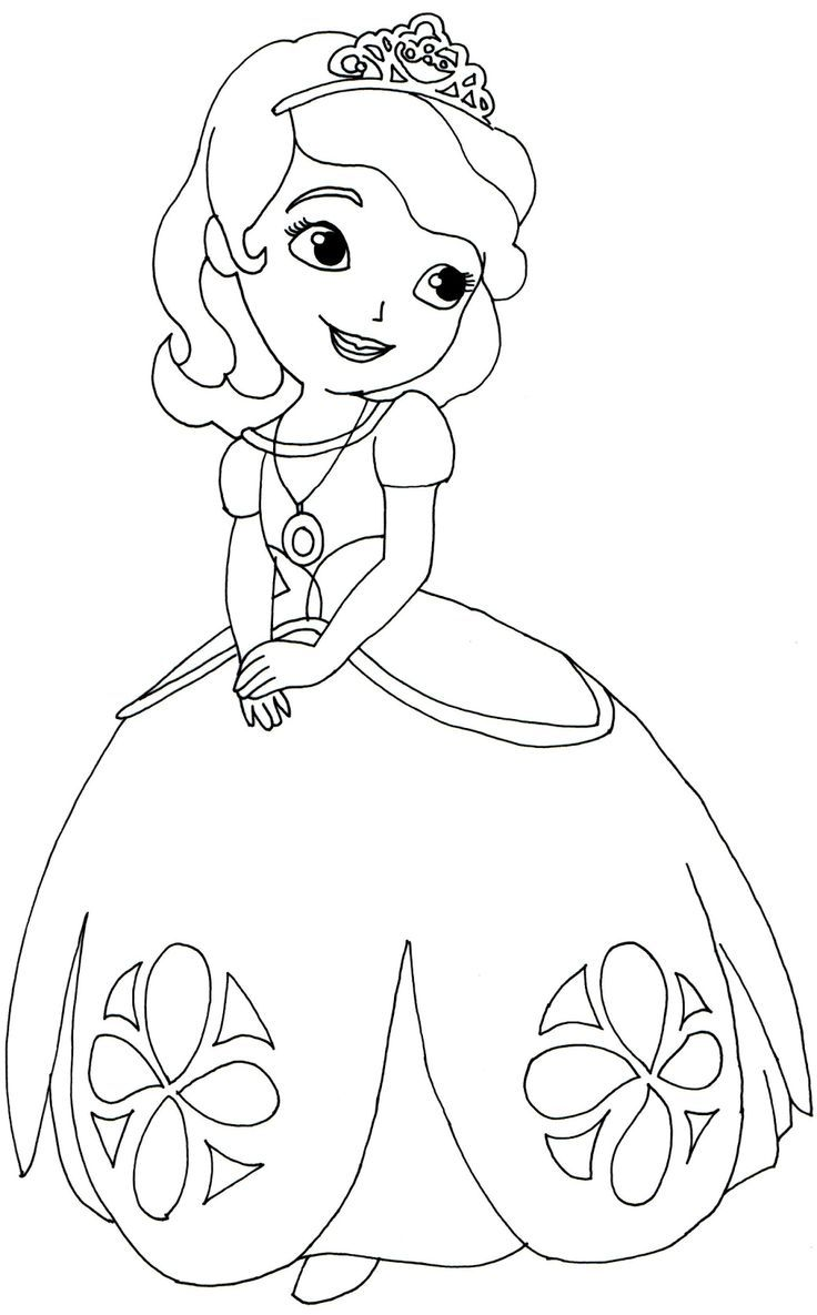 Princess Sofia Coloring Pages With First Cartoon Wallpapers ...