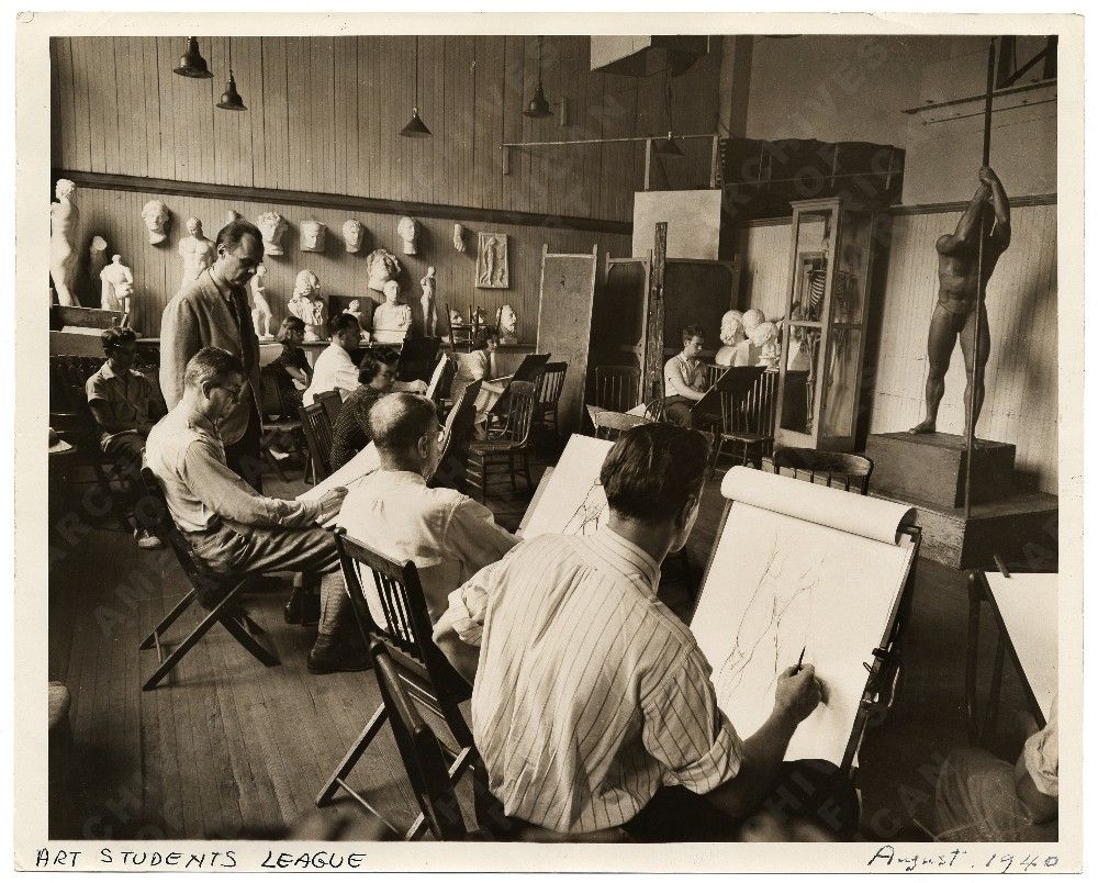 Allyn Cox's Life Drawing class in 1940    Back In the Day