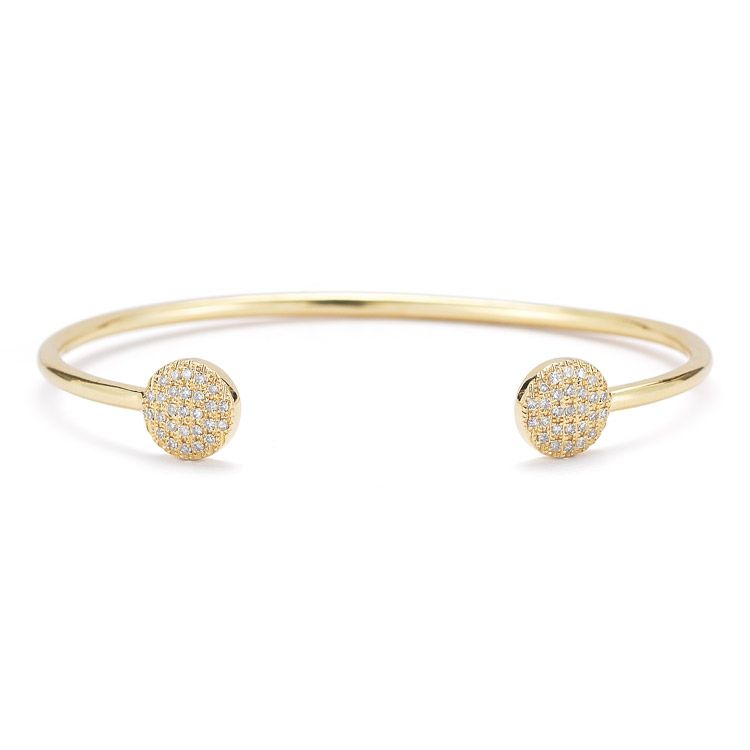LAUREN JOY MEDIUM Delicate & stackable 14k yellow gold cuff
