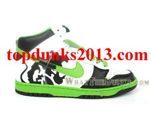 Brass Monki Green White Black High Top Custom Nike Dunk Sale Online Cheap eb41e171205f