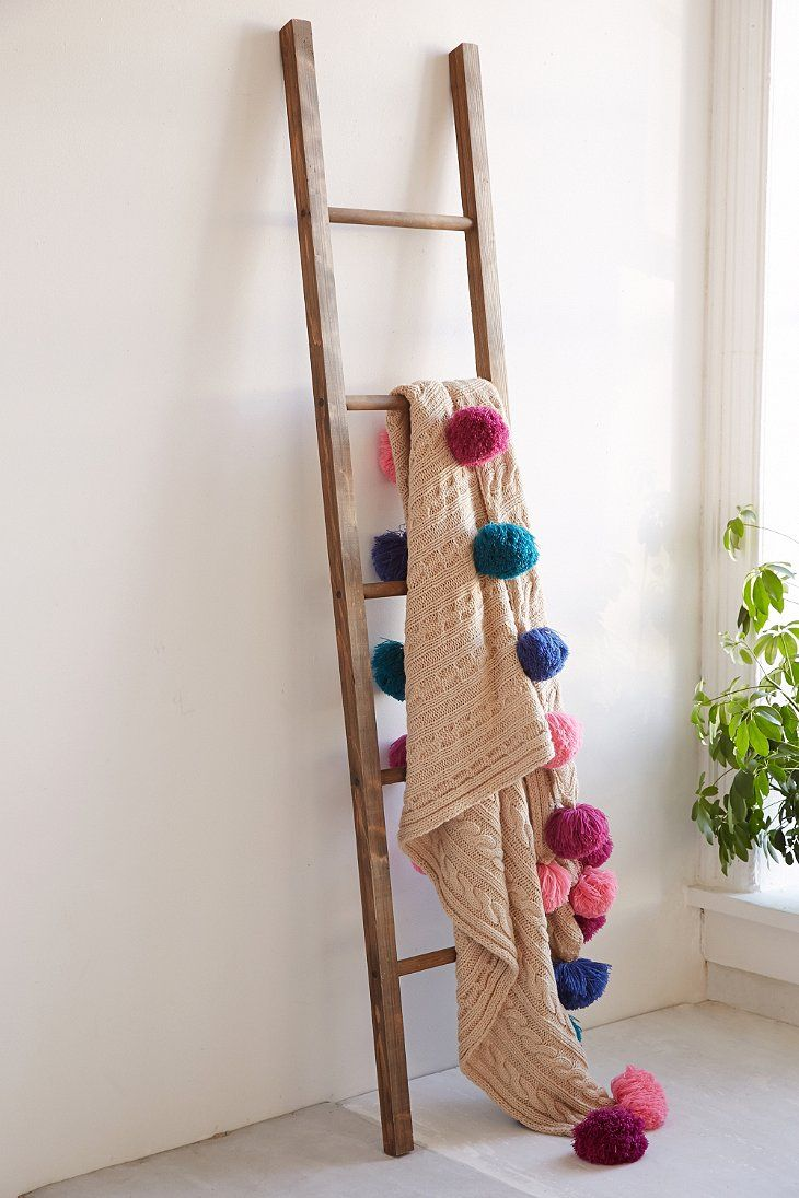 Wooden blanket ladder blanket ladder apartments and urban decor
