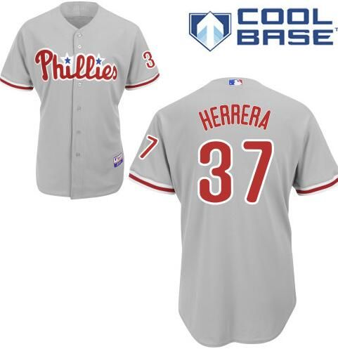 Men s Philadelphia Phillies  37 Odubel Herrera Gray Road Stitched Baseball  Jersey a7f41b0a075