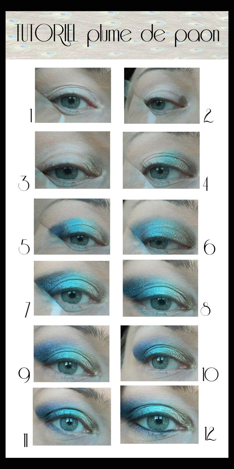 jenni dans tous ses états: Tuto makeup : Les yeux du paon