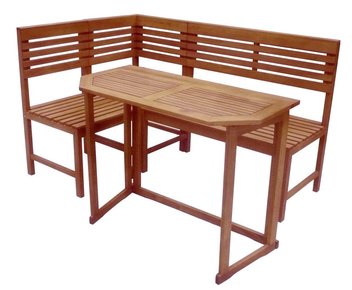 Holzmöbel garten  Balkon-Eckbank mit Tisch SANTE FE Balkonmöbel Holzmöbel Sitzgruppe ...