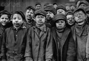 Victorian Era Chimney Sweeps: A glance into the children of the Victorian Era who had to sweep chimneys in order to gain a living. The layers of thin clothes and hats are all good pieces of inspiration. The messy faces describe having to sweep dust and smoke of the chimneys.