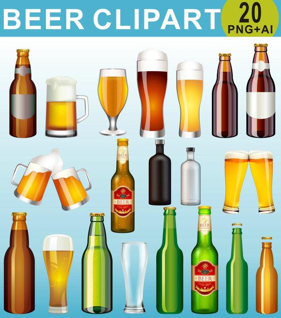 Beer Clipart Drinks Clipart Beer Bottle Clip Art Alcohol Etsy Beer Clipart Clip Art Digital Clip Art