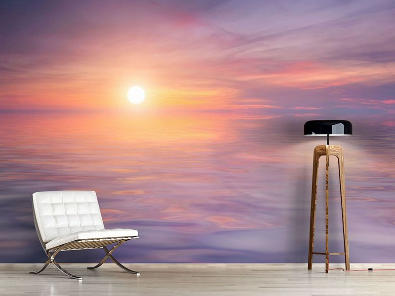 foto tapete sonnenuntergang auf see fototapeten meer pinterest sonnenuntergang tapeten. Black Bedroom Furniture Sets. Home Design Ideas