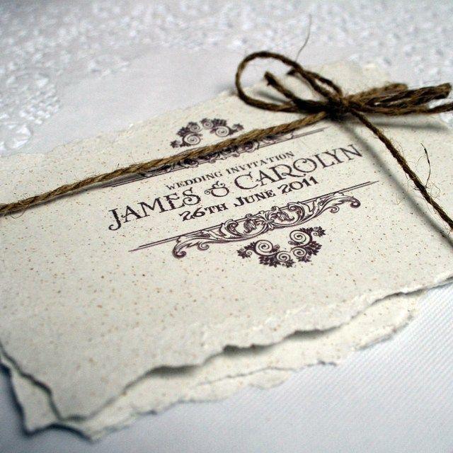 Fesselnd Bindfaden Hochzeitskarte Einladung Ideen Papier