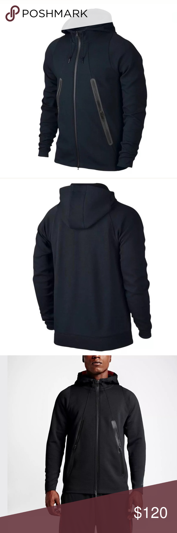 Jordan Men's Tech Lite FullZip Fleece Hoodie Nike Jordan