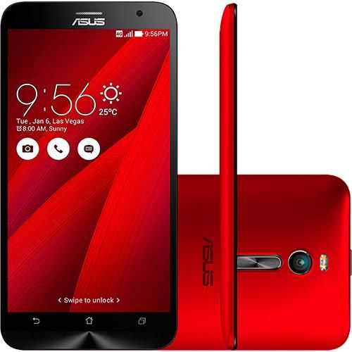 Smartphone Asus Zenfone 2 32GB Dual Chip Android 5.0 Tela 5.5 Wi-Fi Câmera de 13MP Vermelho