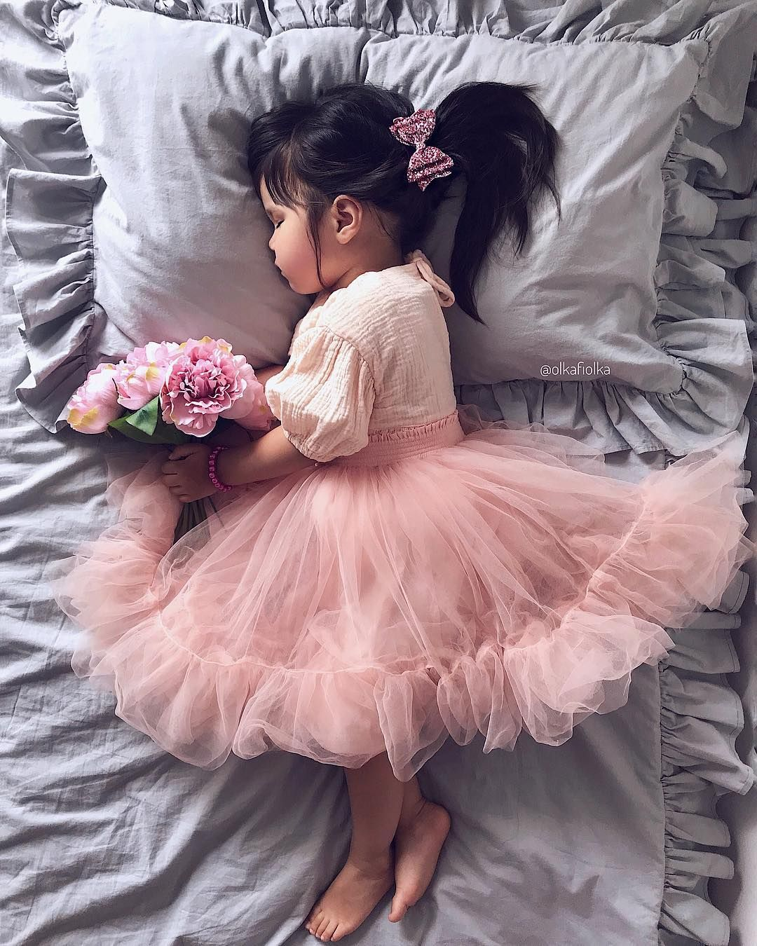 bedd3b2e6d Sweetest pic by @olkafiolka of the 'Anna' babydoll and 'Romantic' tutu skirt  in ballet pink. Toddler fashion | baby ballerina | Aubrie