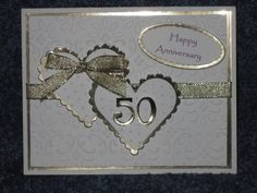 homemade 50th anniversary cards