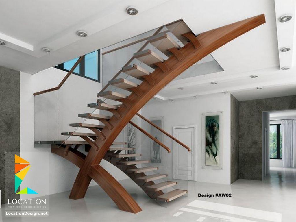 تصاميم سلالم داخلية للمنازل روعة 2019 2020 Stairs Design Modern Contemporary Stairs Modern Stairs