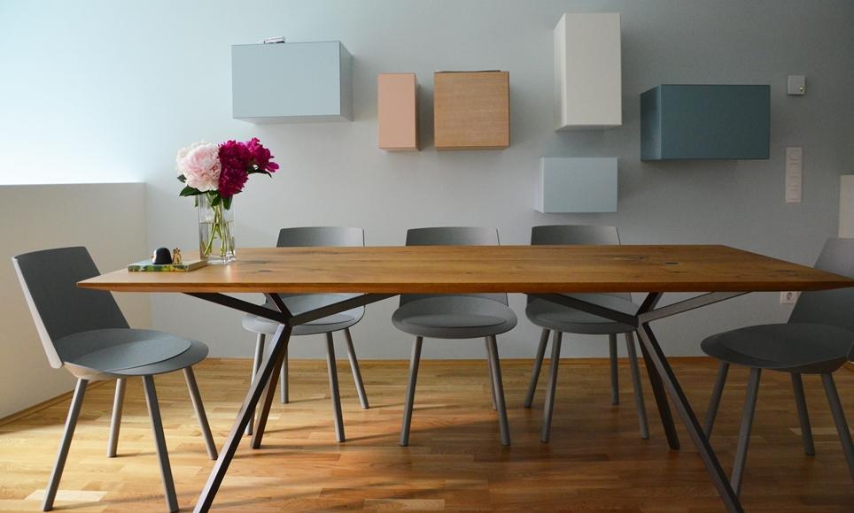 Moderner Tisch Massivholztisch Wildeiche palatti