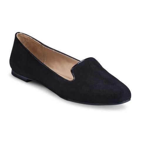 Women shoes, Black suede loafers