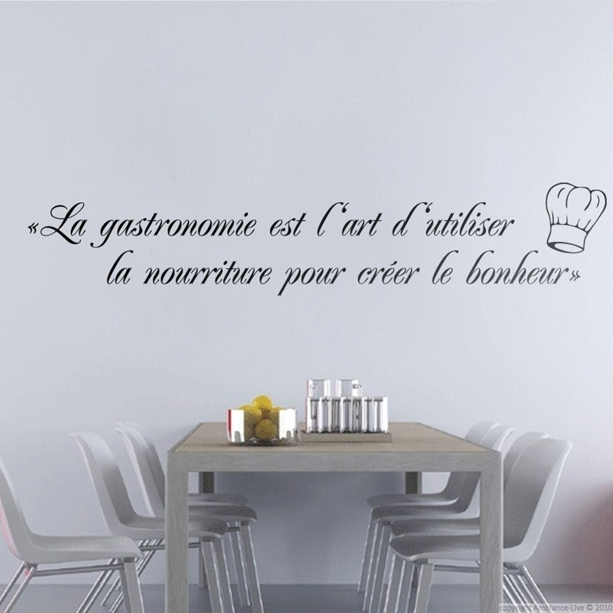 Decoration Murale Citation Sticker La Gastronomie Est Déco Kitchen Quotes Wall