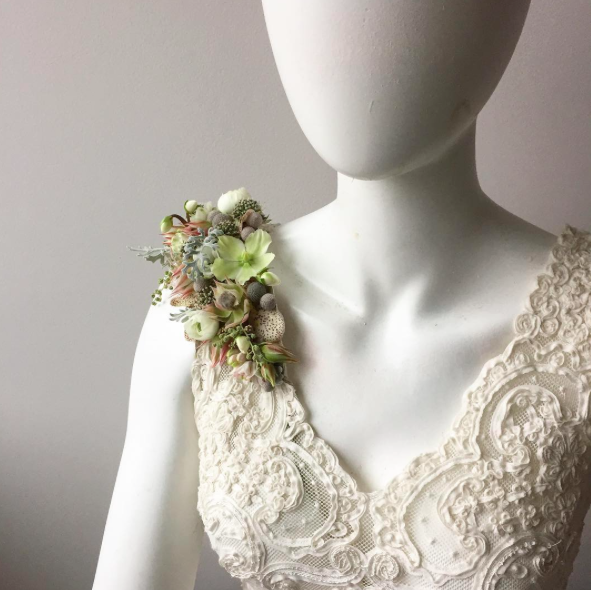 Pin By Passionflower Sue On Nature Inspiration Succulent Corsage Floral Jewellery Flower Fascinator