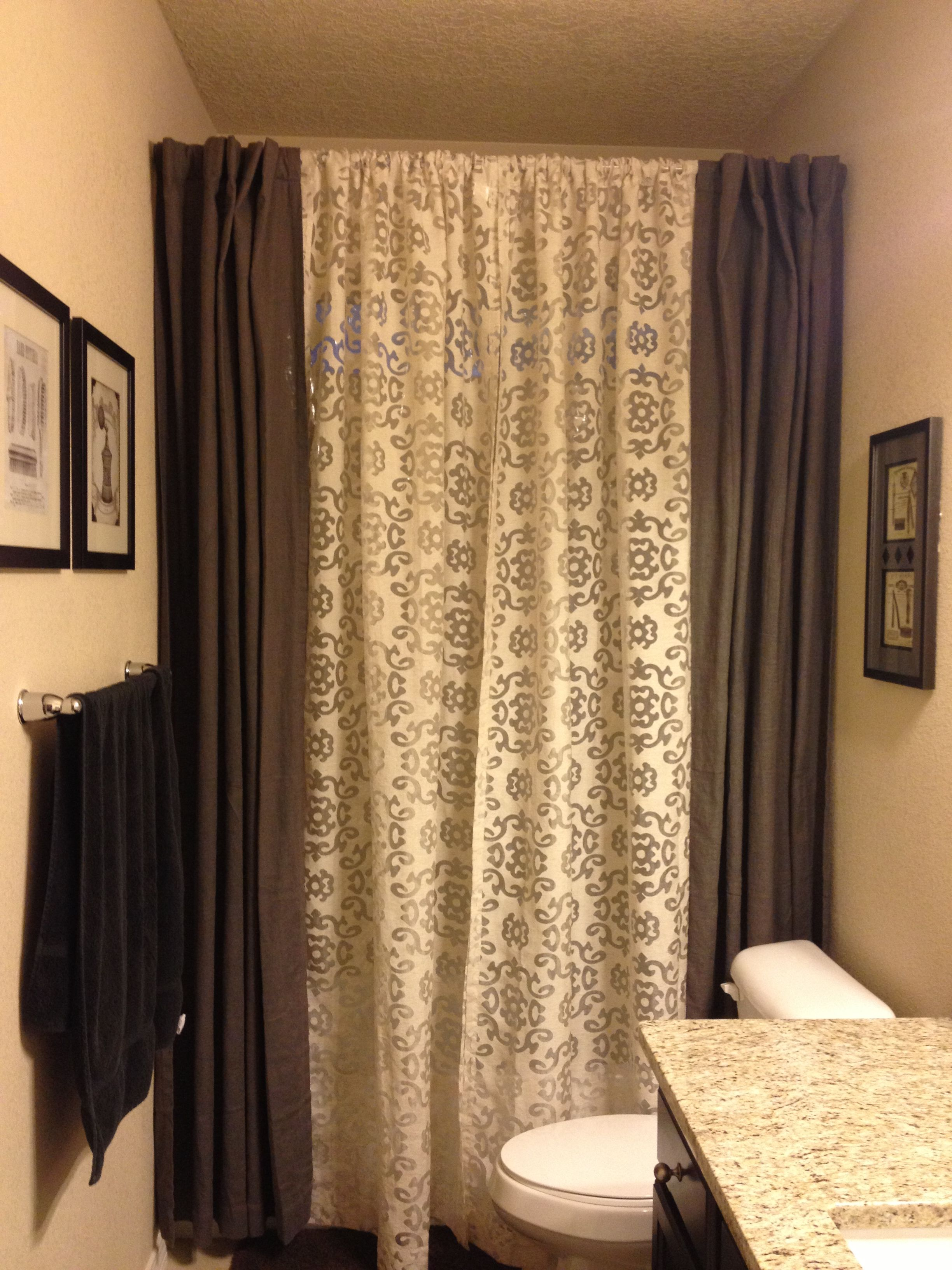 95 Or 102 Curtain Panels Instead Of A 72 Shower Curtain Double