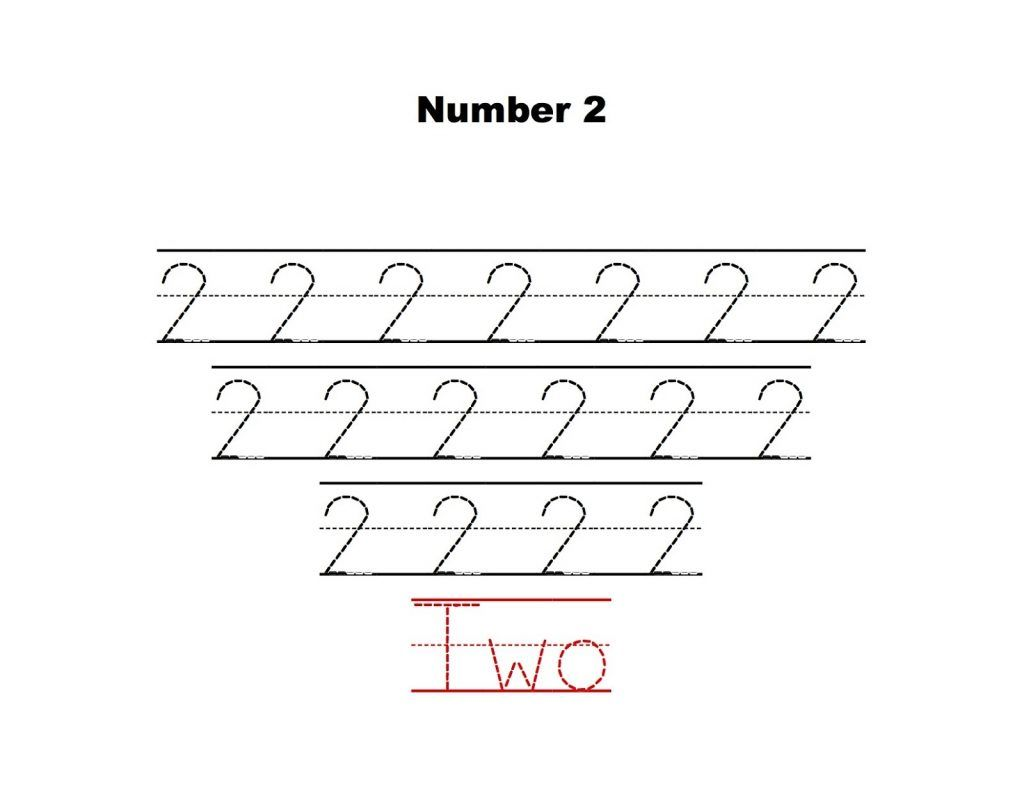 Number 2 Tracing Worksheets In 2020 Tracing Worksheets Worksheets Writing Numbers
