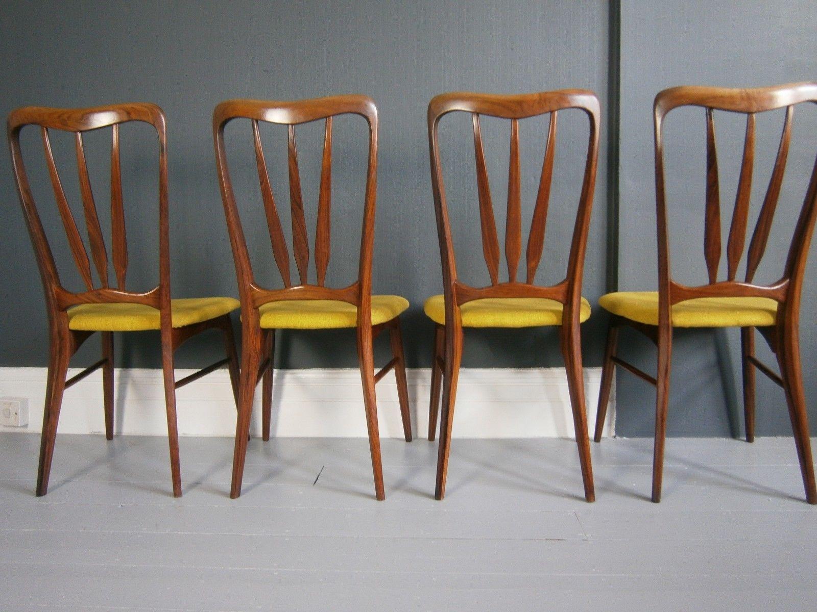 Cool Vintage Mid Century Danish Niels Koefoed Rosewood Ingrid 6 Gamerscity Chair Design For Home Gamerscityorg