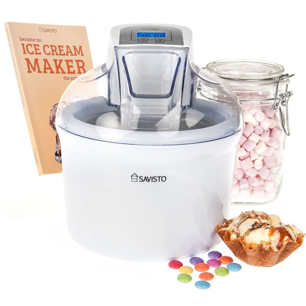 Was 4495 now 2995 save 33 off savisto 15 litre homemade ice the savisto litre ice cream maker allows you to create delicious homemade frozen treats in 30 mins comes with recipe book and free uk delivery forumfinder Images