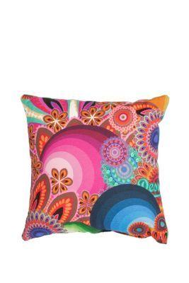 Desigual Turquoise cushion. 100% easy-care cotton. Measurements: 30x30cm. /  11.7
