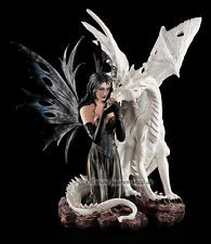 Fantasy Fee Statue Magie Elfen Figur mit Drache Bad Dragon by Amy Brown