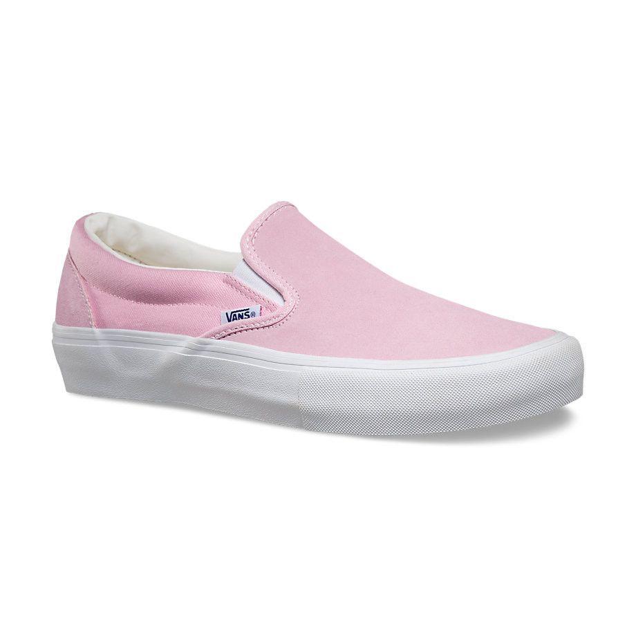 vans slip on pro candy pink