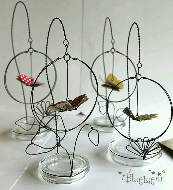 hanging butterfly | Wired Fantasy | Pinterest | Butterfly, Wire art ...