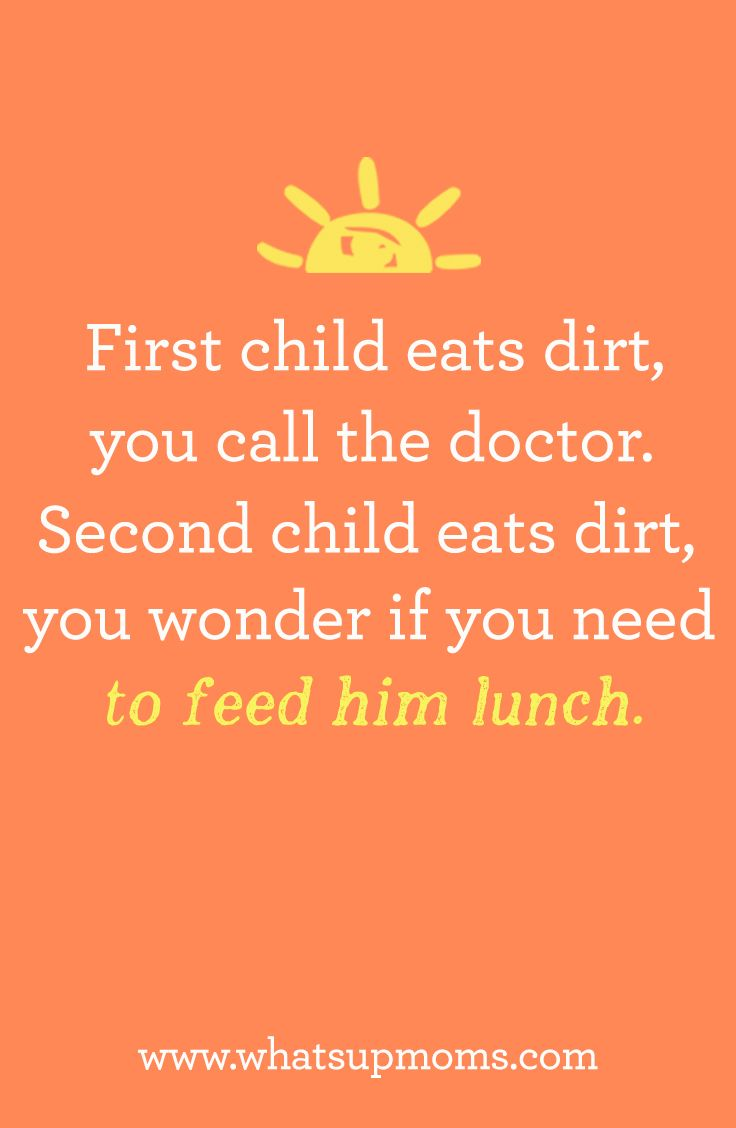 quote first child second child dirt doctor lunch