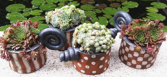 Pflanztöpfe von Margit Hohenberger Gartenkeramik