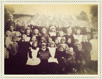 Village school children, Rustington, West Sussex c 1900.