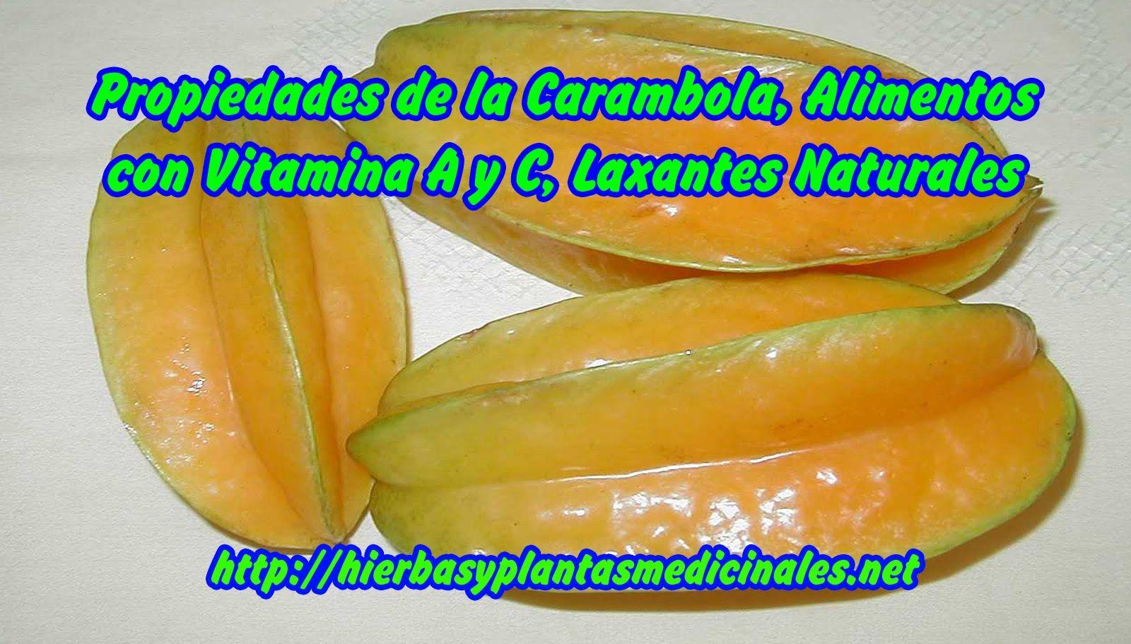 Propiedades de la carambola alimentos con vitamina a y c - Frutas diureticas y laxantes ...