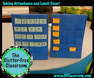 Clutter-Free Classroom: Attendance and Lunch Card Charts - classroom management series