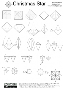 origami christmas star diagram origami used a lot pinterest rh pinterest com Christmas Origami Snowflake christmas origami diagram