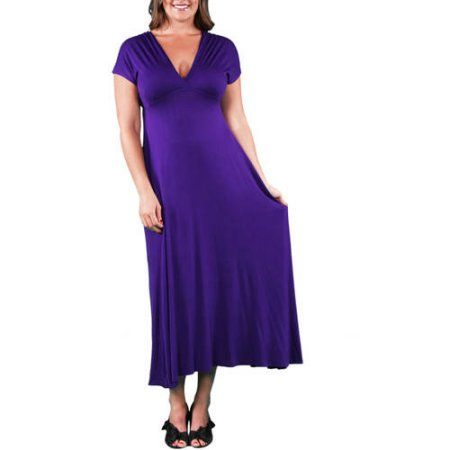 28eb234c411 Plus Size 24 7 Comfort Apparel Women s Plus Faux Wrap Maxi Dress ...