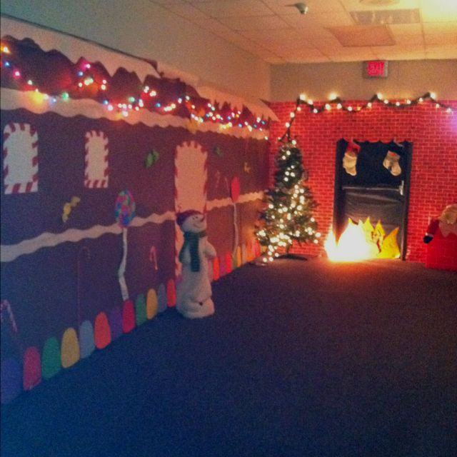 Our hallway at school decorated for genre night. Our genre