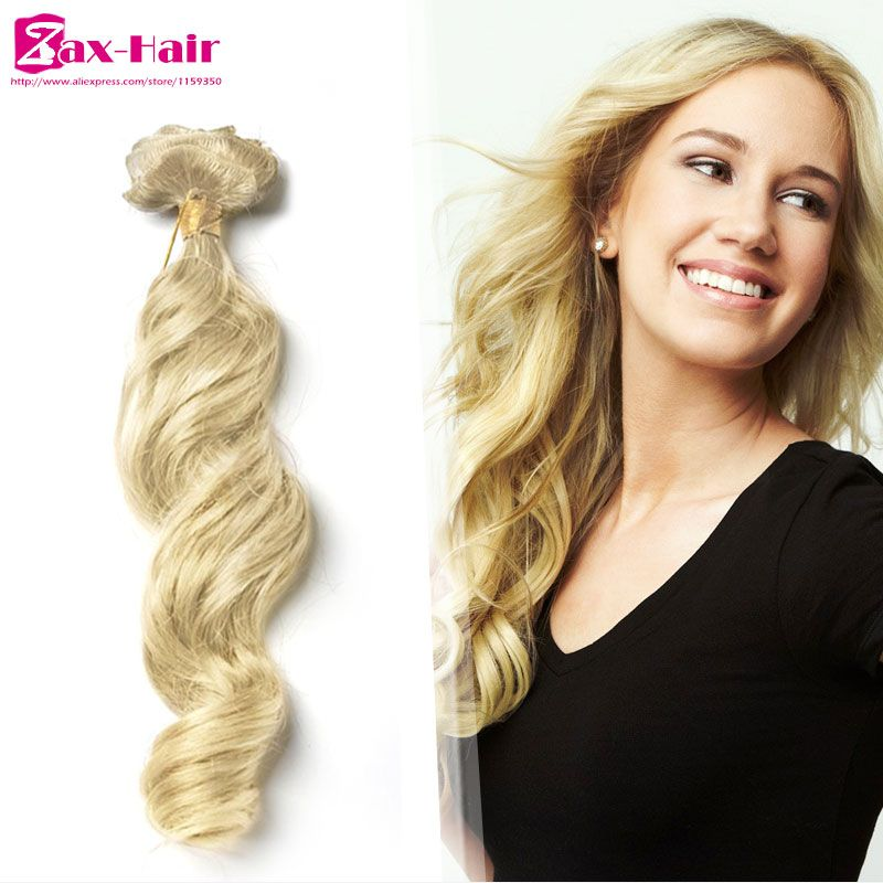 613 Clip In Human Hair Extensions Wavy Clip In Hair Extensions