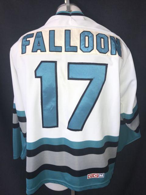 new product 5f1fc cda9e Vintage Pat Faloon San Jose Sharks Hockey Sewn CCM Maska ...