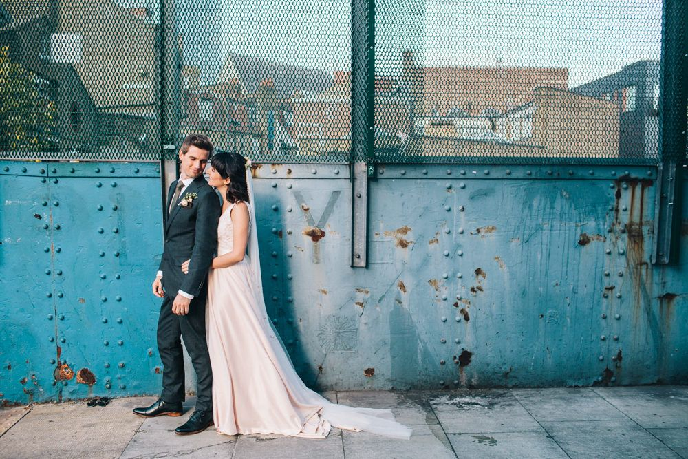 Blush Pink Wedding Dress Tamsin by Catherine Deane For A Stylish London Wedding At 06 St Chads Place With Images From Robbins Photographic