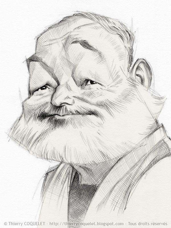 Image result for Ernest Hemingway karikator
