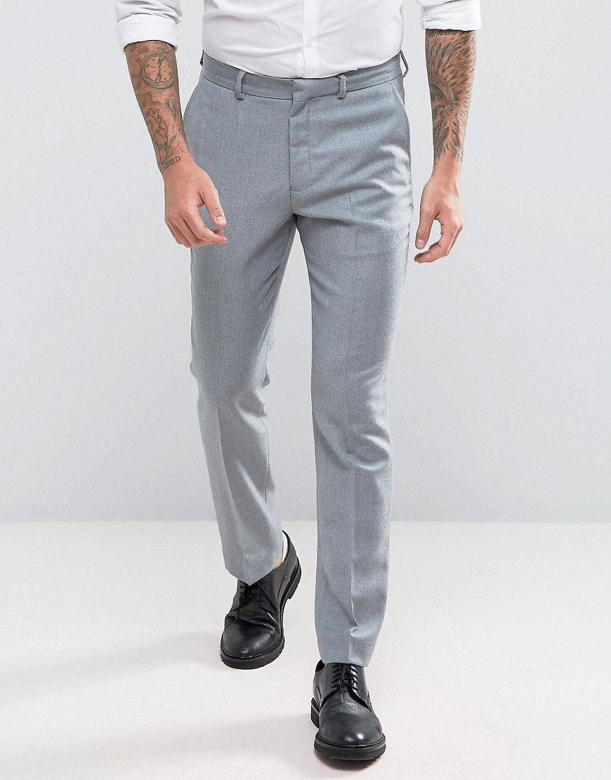 021b48b728adcb Wedding Slim Suit PANTS in Light Gray 100% Merino Wool | Products ...