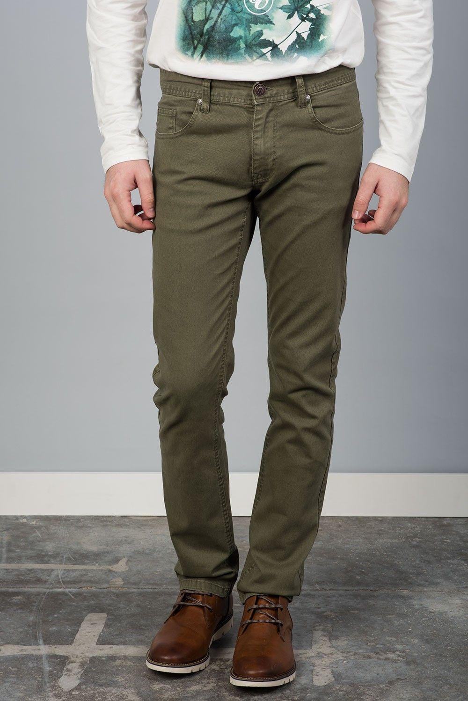 b3e371a15 Tienda online   Moda mujer y hombre Pantalón denim en color verde ...