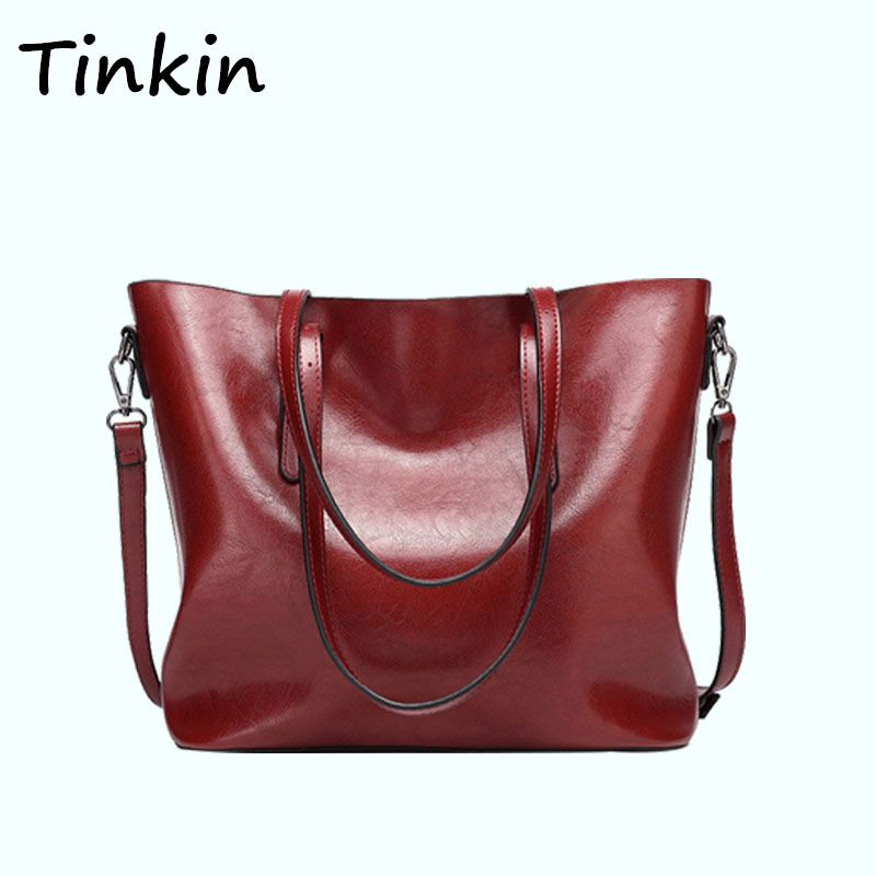 d4e07f8be7 Tinkin Europe Style Shoulder Bag Retro Women Handbag High Capacity Simple Style  Tote Daily Shopping Bag  Affiliate