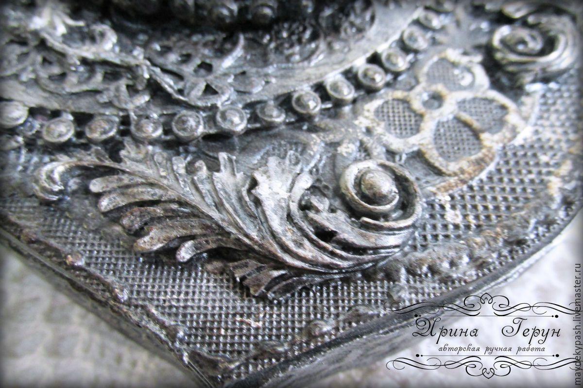 Декупаж шкатулка под серебро