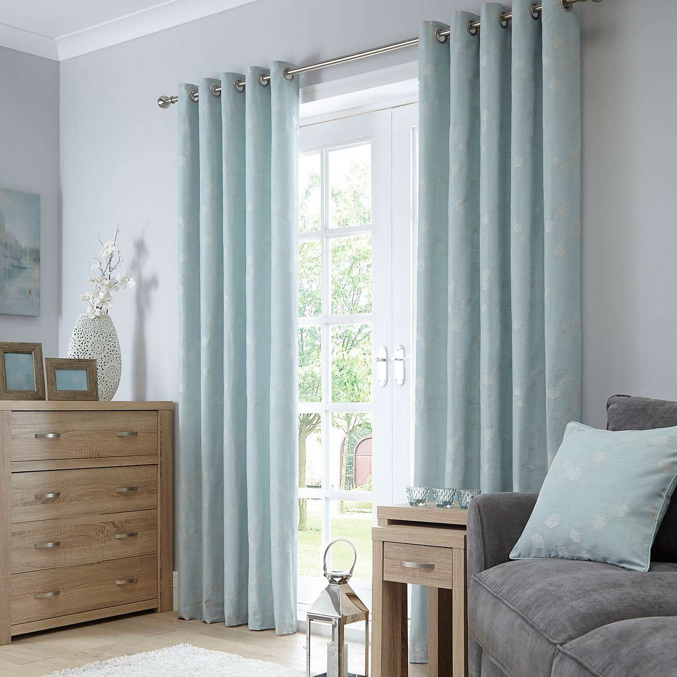 Honesty Seafoam Lined Eyelet Curtains | DWD Market Research 3 - Nov ...