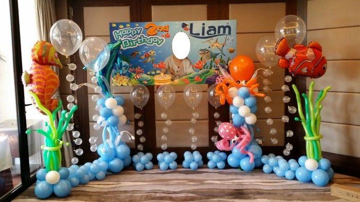 Under The Sea Backdrop Balloon Decorations Simple Balloon